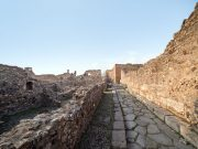 Pompeii ruins, Italy.